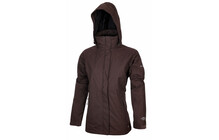 COLUMBIA Women's Pioneering Peak Parka red mahagony/black
